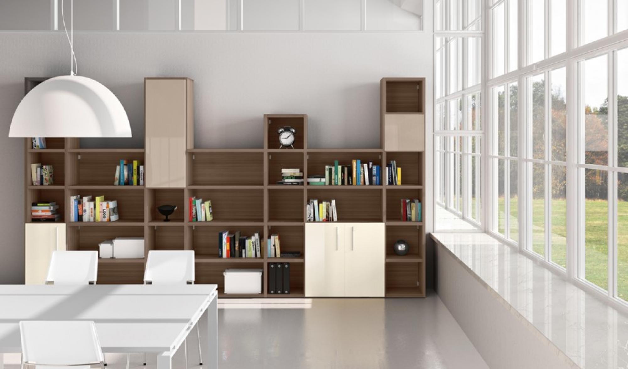 Zona giorno mobili masella for Scaffali ufficio ikea
